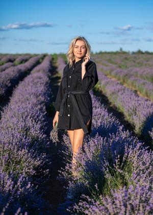 Фотосессия Ирины в лавандовом поле
