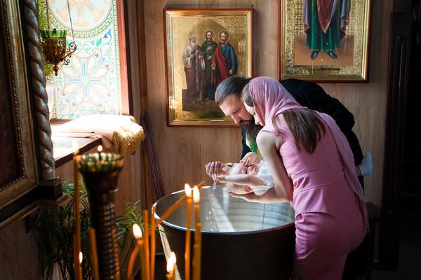 Крещение Саши и Леры